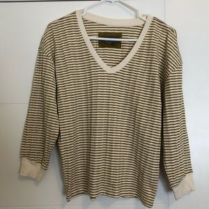 Essentials by Anthropologie Green Striped Top